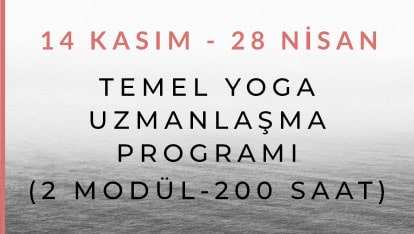 200 Saat Temel Yoga Uzmanlaşma Programı (2 Modül)