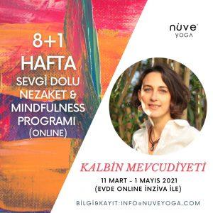 """Hande Akmehmetoğlu ile """"Kalbin Mevcudiyeti"""" 8+1 Hafta Metta Odaklı Mindfulness Programı"""