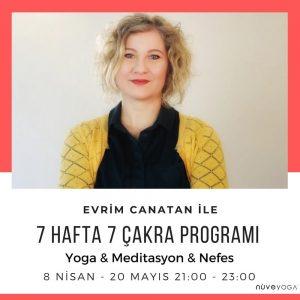 """Evrim Canatan ile """"7 Hafta 7 Çakra Programı"""""""